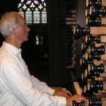 Harm Jansen op het orgel